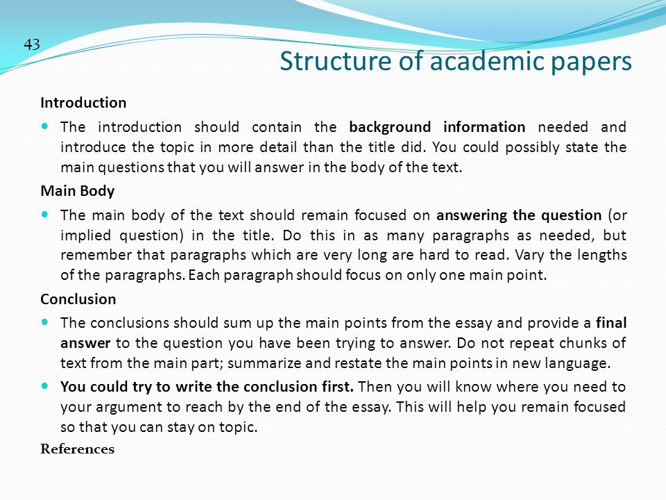 writing academic papers introduction Academic writing article writing  introduction: present tense related  c  srinivas many thanks for the shared documents about writing scientific papers.