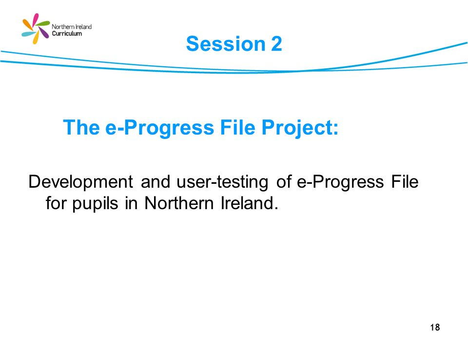 The e-Progress File Project:
