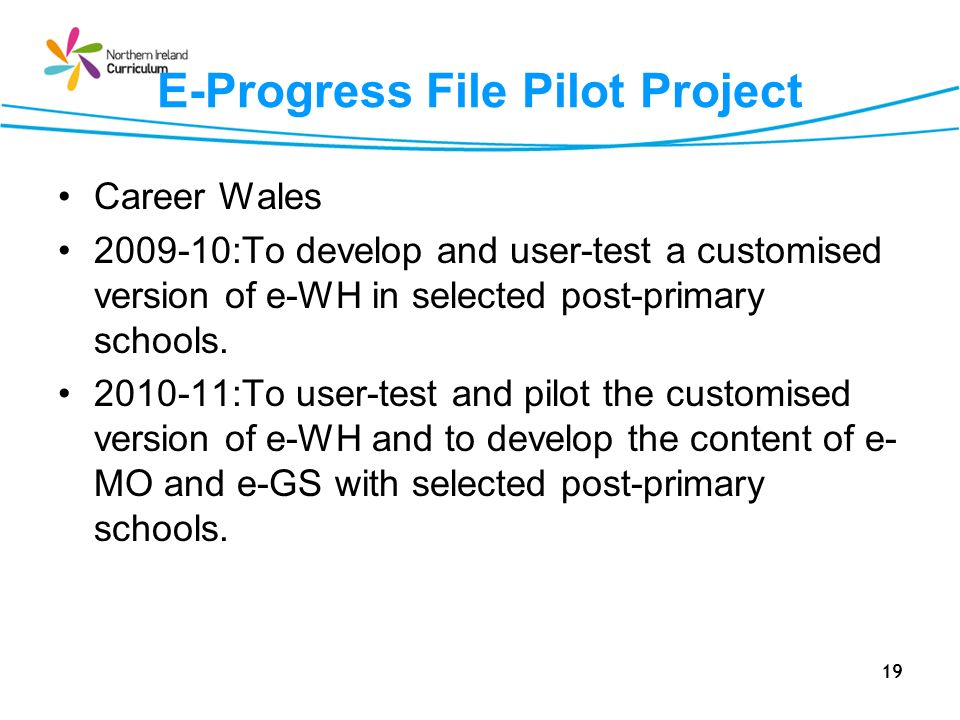 E-Progress File Pilot Project