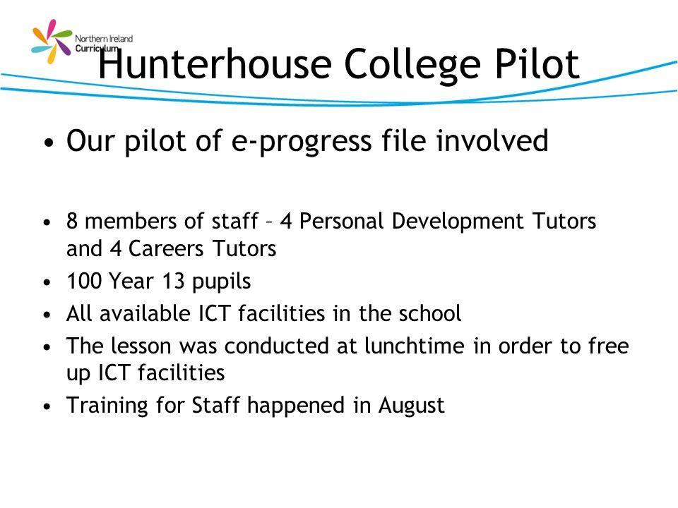 Hunterhouse College Pilot