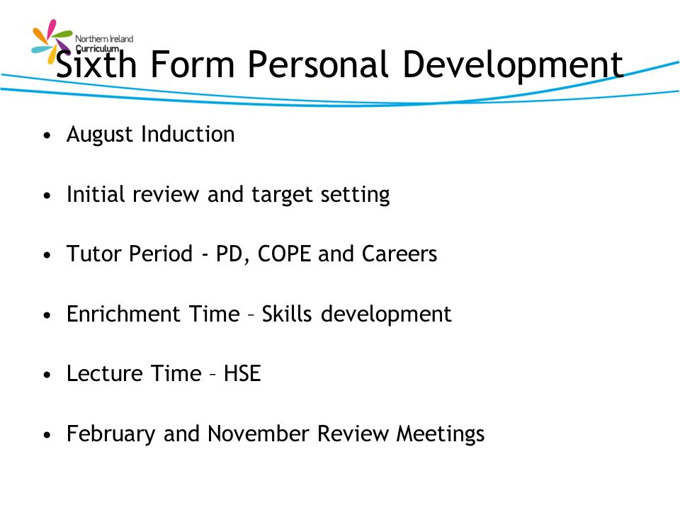 Sixth Form Personal Development