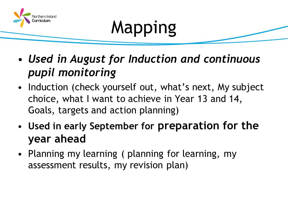 Mapping Used in August for Induction and continuous pupil monitoring