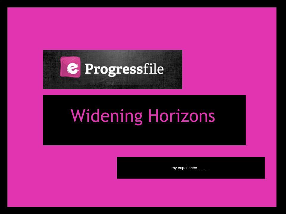 Widening Horizons my experience……….