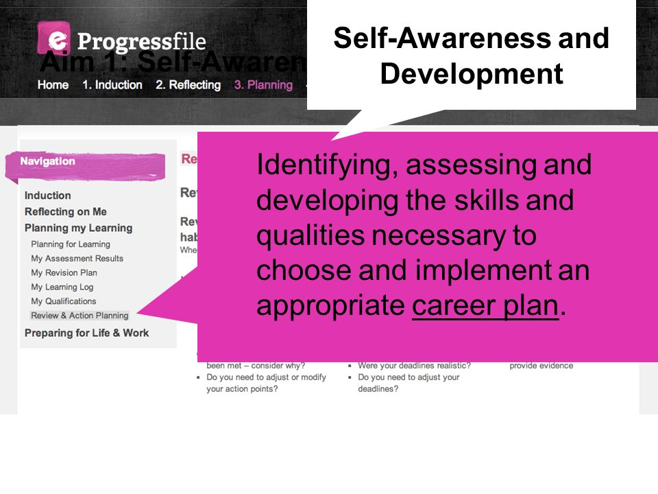 Aim 1: Self-Awareness and Development
