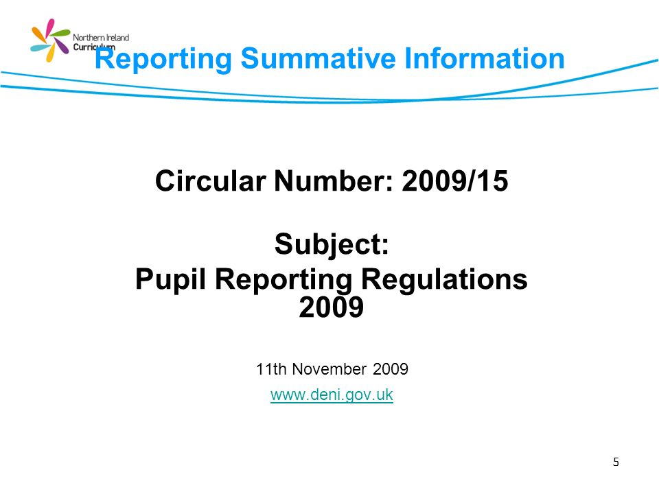 Reporting Summative Information