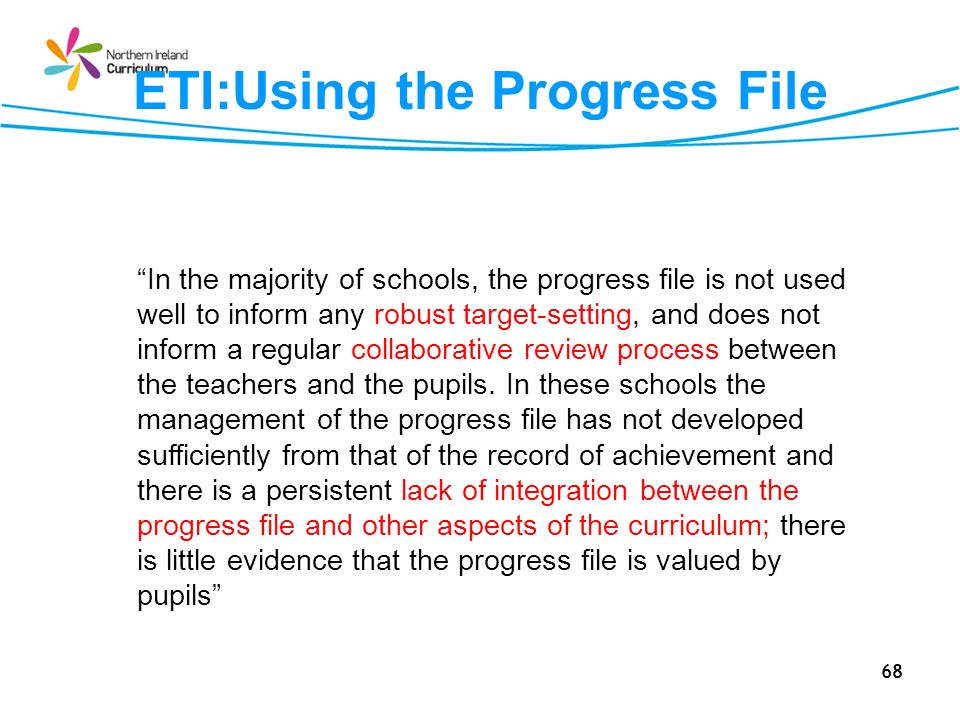 ETI:Using the Progress File
