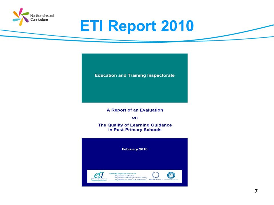 ETI Report 2010 THE EVALUATION. 2.1 The evaluation focused, in particular, on:
