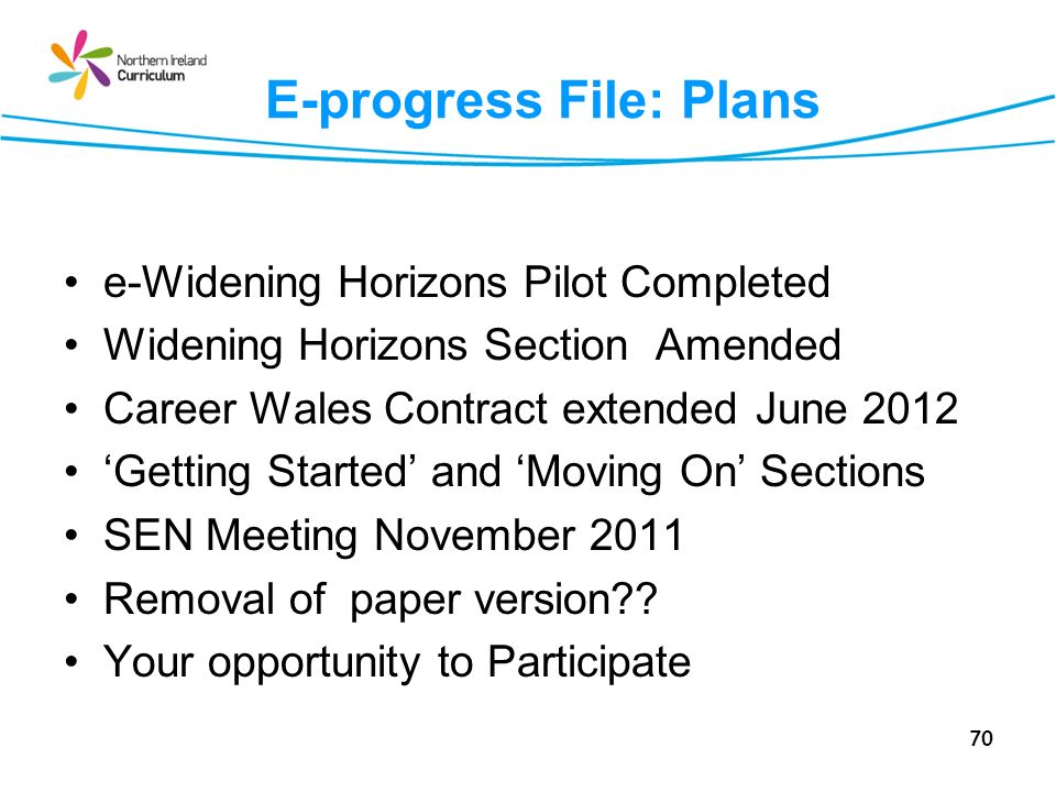 E-progress File: Plans
