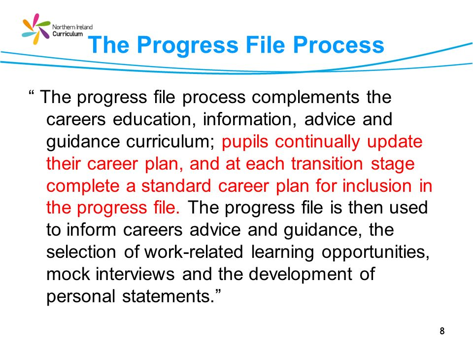The Progress File Process