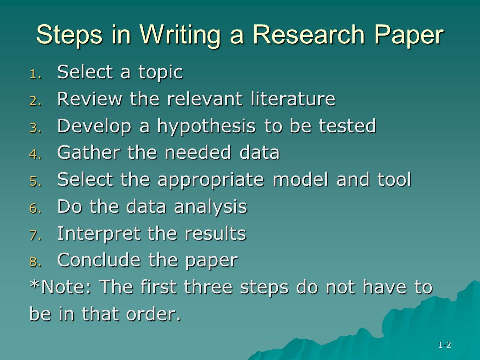 Research paper writing steps