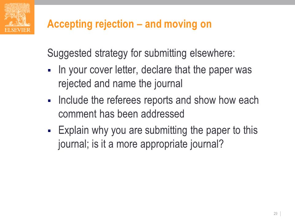 cover letter for publishing paper