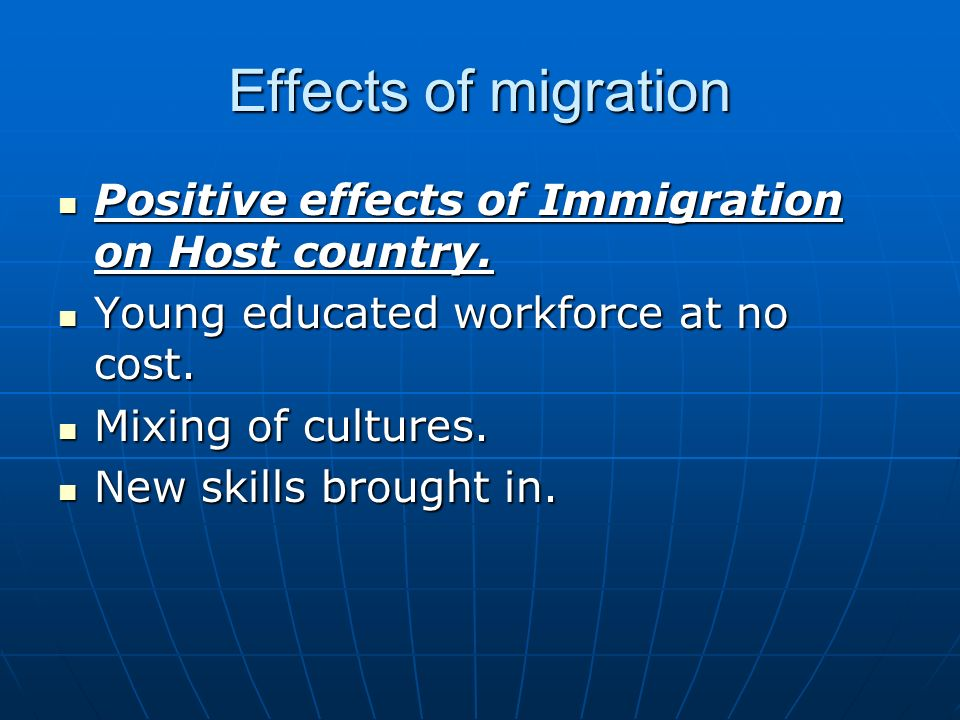 Negative Effects of Migration