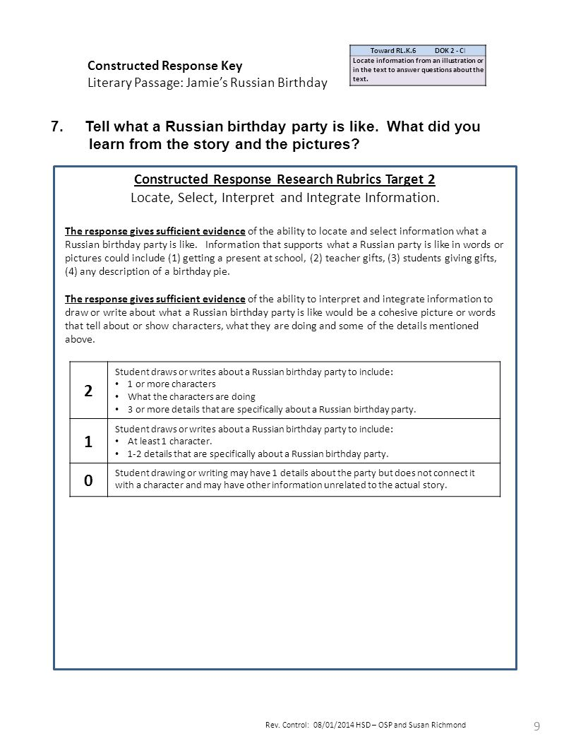 Uncategorized Constructed Response Worksheets k grade quarter 2 pre assessment teacher directions ppt download 9 constructed response