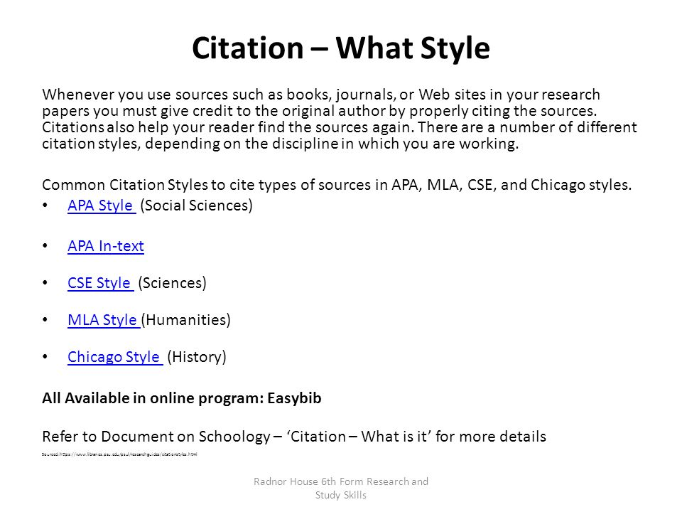 citations for chicago style