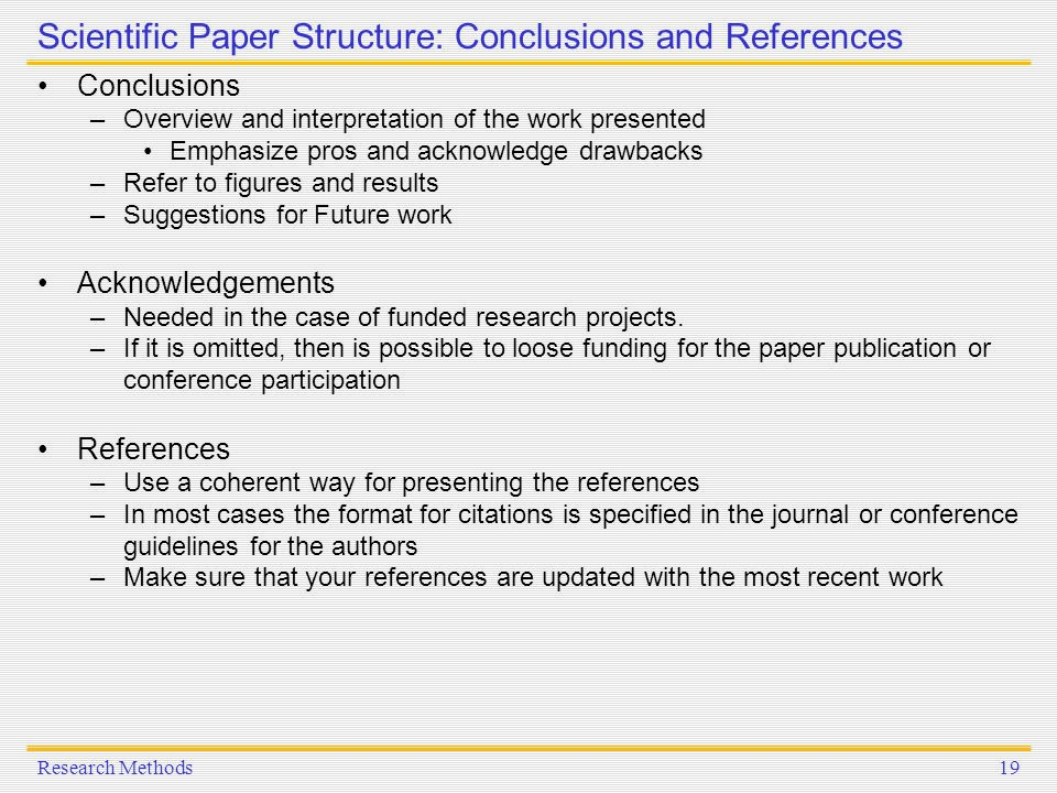 results and conclusion paper Without having good essay conclusion examples in front of your eyes, it would be   add a warning of the outcomes of not following the thesis and a general.