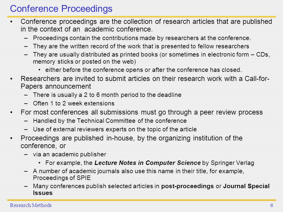 conference proceedings research paper