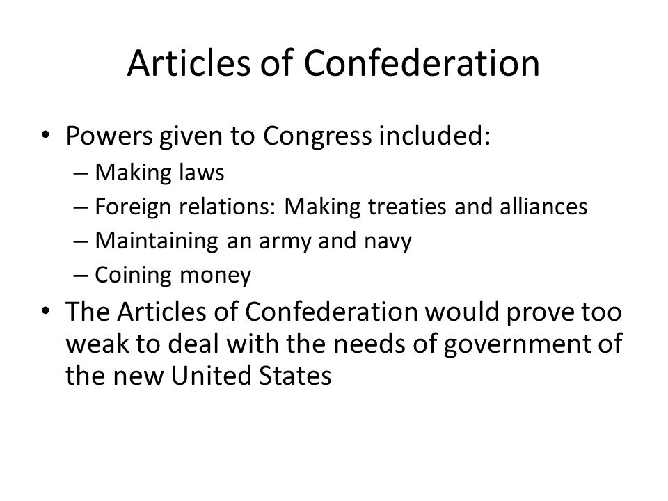 weak articles of confederation