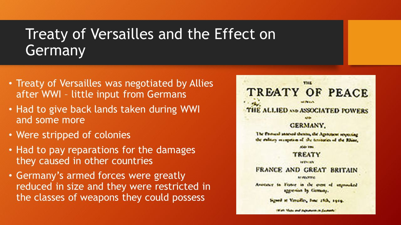 the impact of the versailles treaty on world war ii Authors peter maguire and gerhard weinberg talk about the legacy of the  nuremberg trials and the allied war crimes trials in asia following.