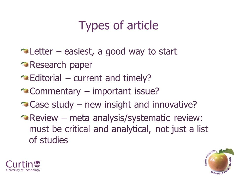 a good way to start a research paper Such an assignment often creates a great deal of unneeded anxiety in the   writing a research paper is an essential aspect of academics and should not be   where do i begin- this section concludes the handout by offering.