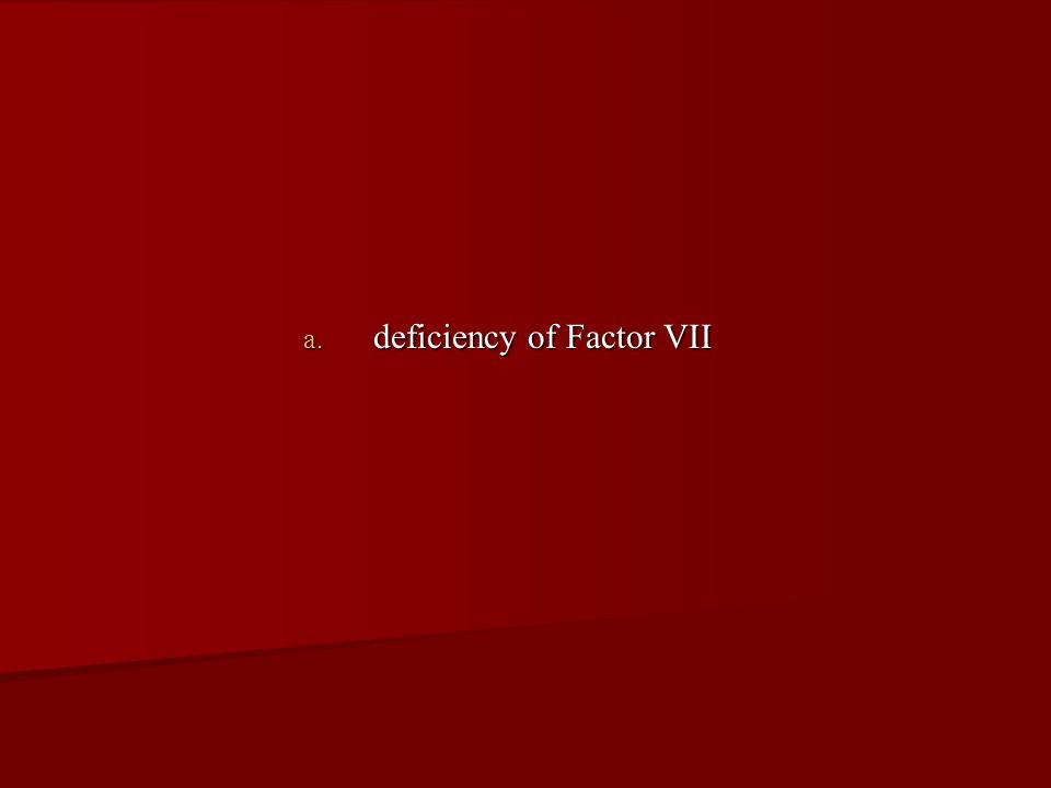 deficiency of Factor VII