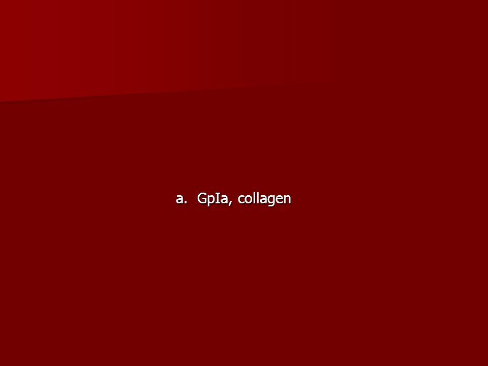 a. GpIa, collagen