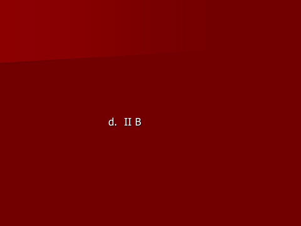 d. II B