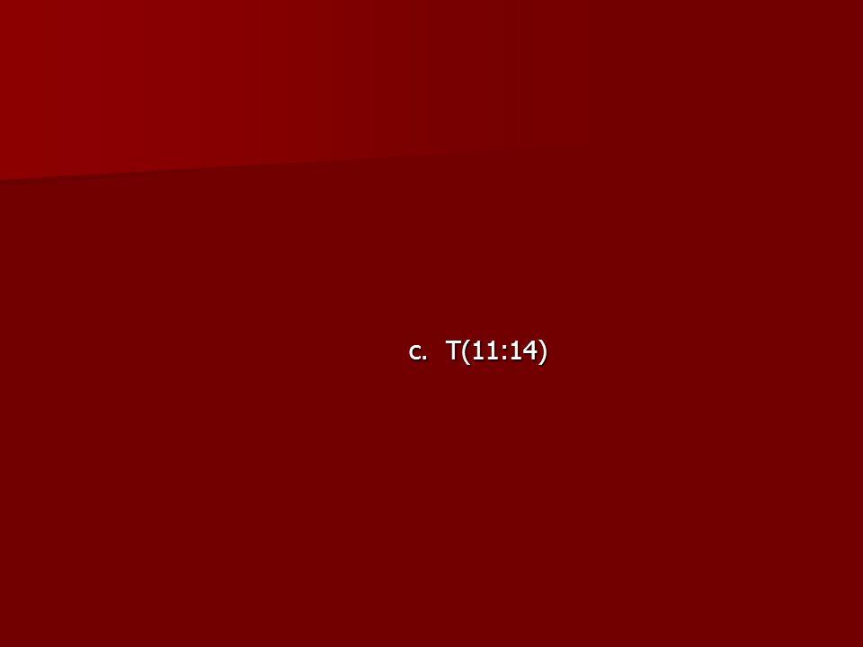 c. T(11:14)