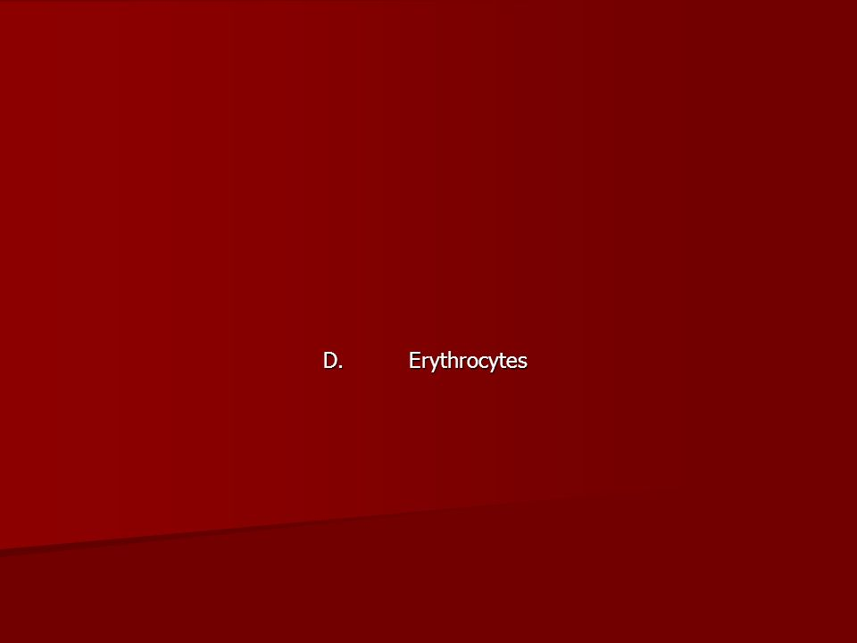 D. Erythrocytes