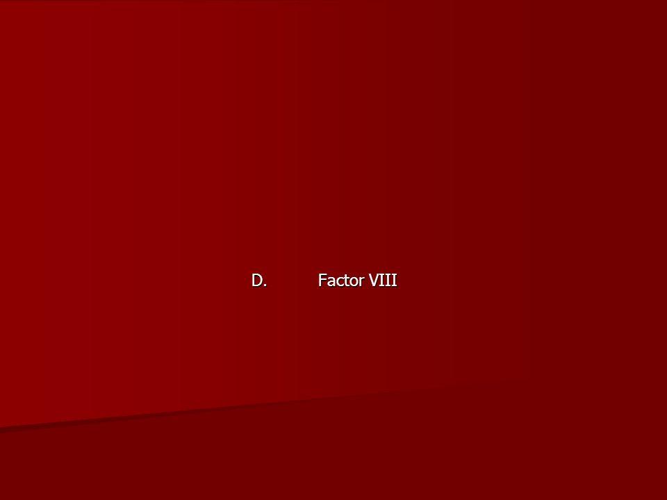 D. Factor VIII