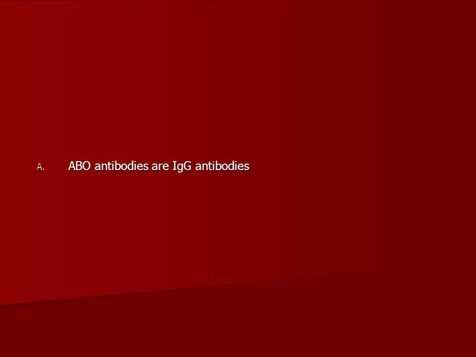ABO antibodies are IgG antibodies