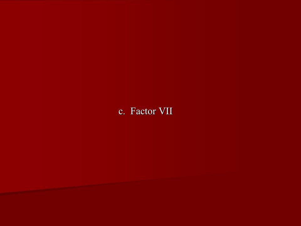 c. Factor VII