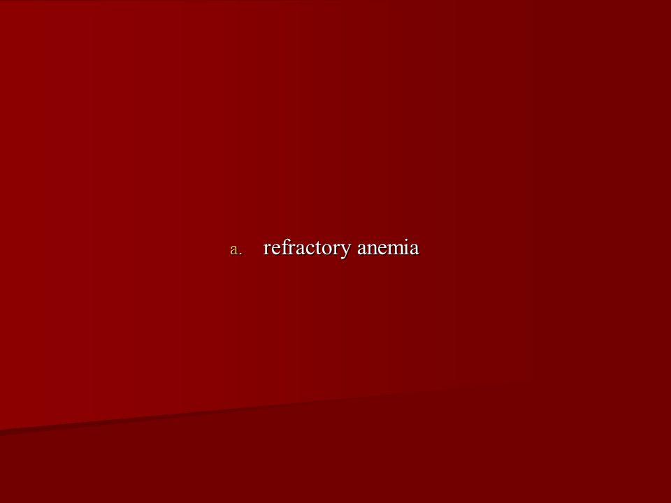 refractory anemia