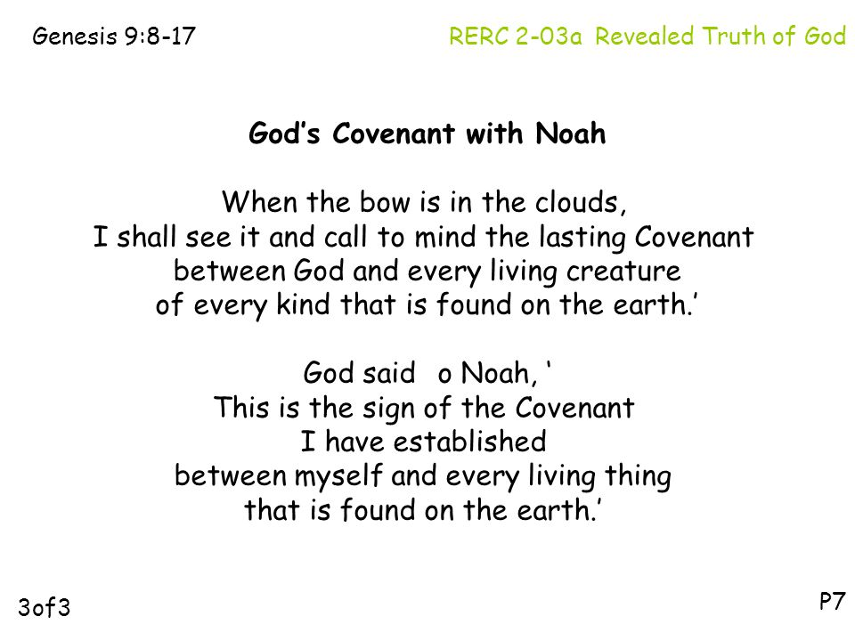 """the covenant gods relationship with noah The book of mormon can help you build a relationship with god  noah's ark  was a """"vessel"""" in both senses the ark of the covenant was a """"vessel"""" in only the ."""