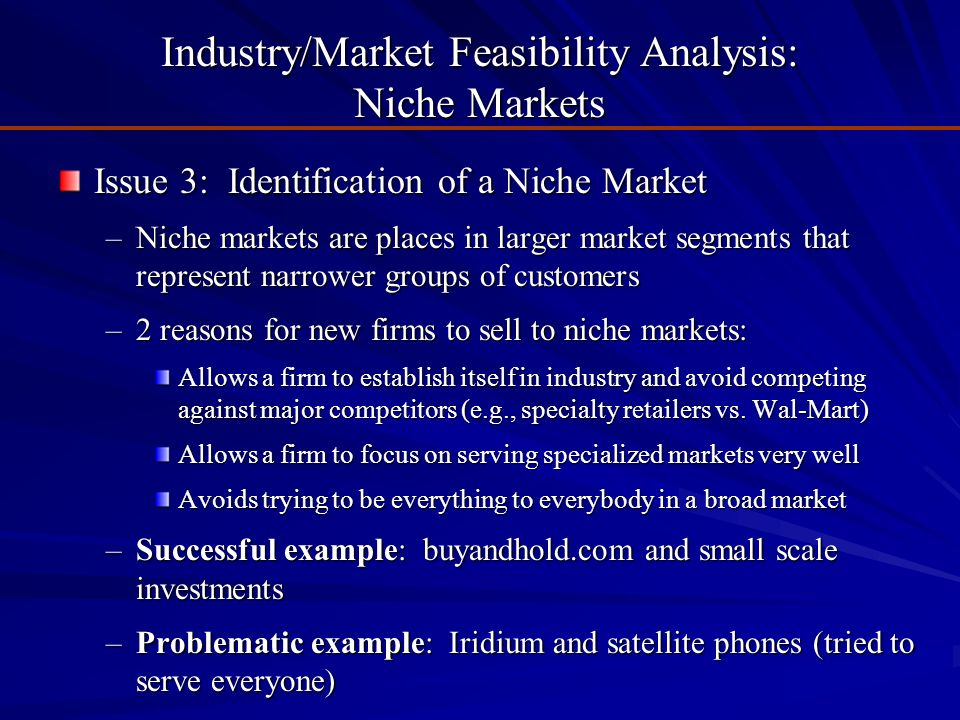 industry and market feasibility analysis