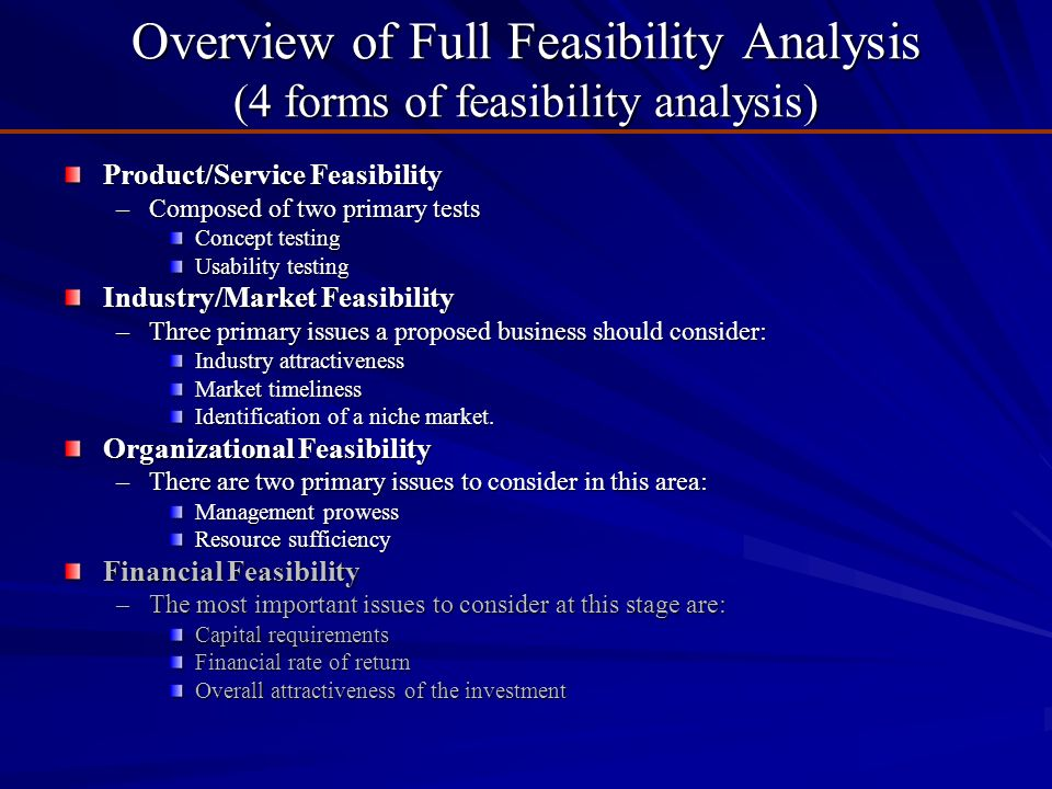 Introduction to Feasibility Analysis - ppt video online download
