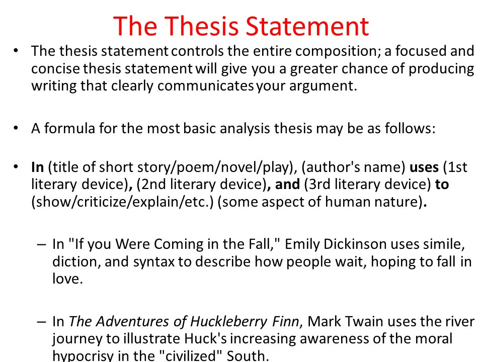 thesis statement for emily dickenson