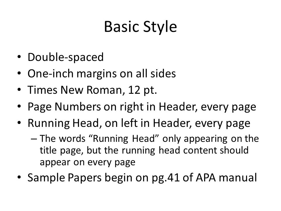 headers in apa 6th edition