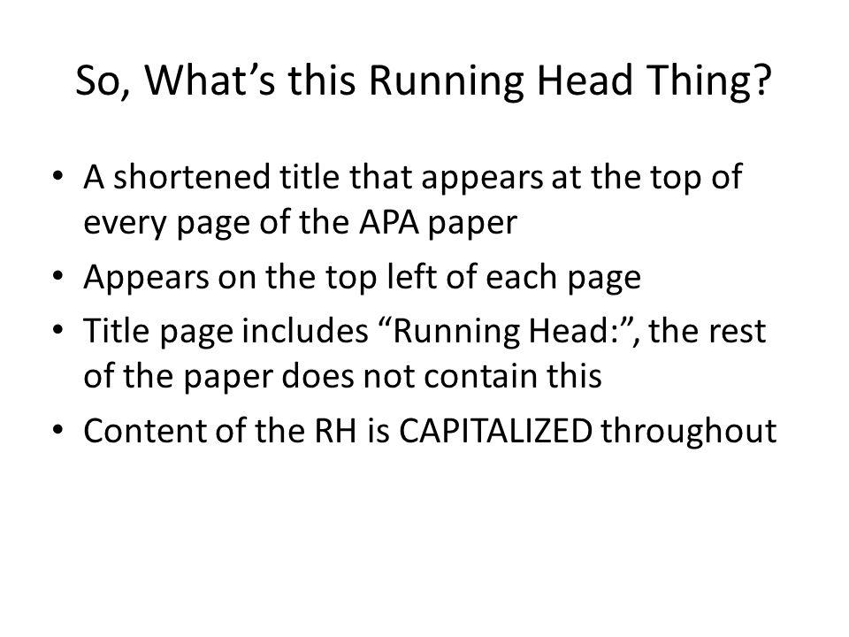 Apa essay title page