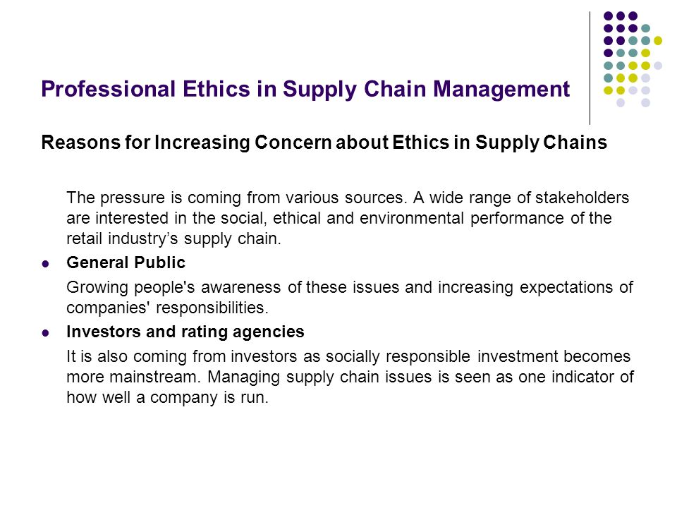 ethical problems in management A framework to help resolve ethical problems starting with identifying the problems and parties involved to implementing the course of action and monitoring its progress.