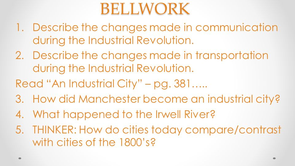 changes in transport during the industrial revolution