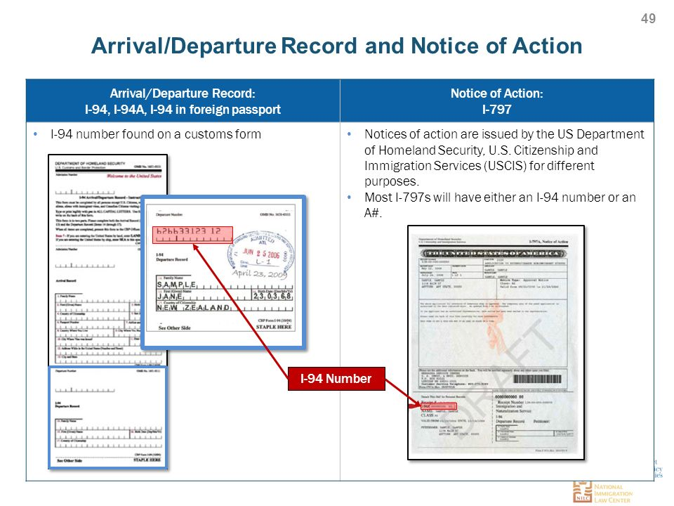 Arrival Fdeparture Record And Notice Of Action