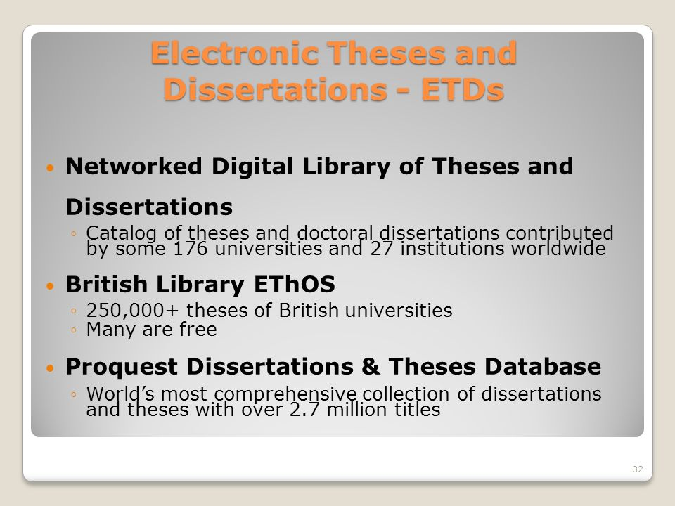 theses and dissertations online