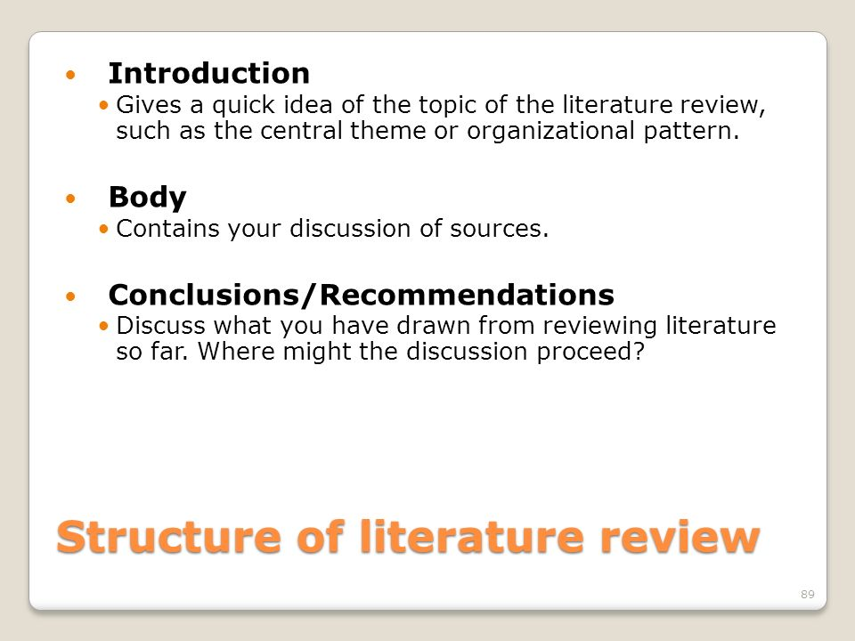 Literature review OUHK