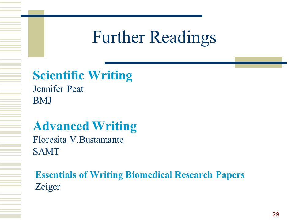 biomedical essential papers research writing Essentials of writing biomedical research  to use in biomedical research papers is governed by a few sets of words that biomedical researchers.