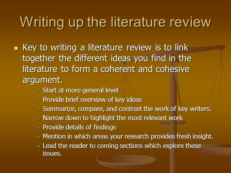 literature 20review A literature review is not an annotated bibliography in which you summarize briefly each article that you have reviewed while a summary of the what you have read is contained within the literature review, it goes well beyond merely summarizing professional literature.