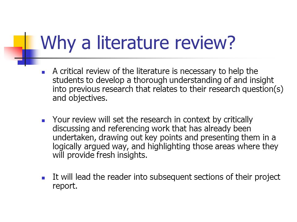 the literature review what is it and why do it Information seeking: the ability to scan the literature efficiently, using manual or computerized methods, to identify a set of useful articles and books critical appraisal: the ability to apply principles of analysis to identify unbiased and valid studies a literature review must do these things be organized around and related.