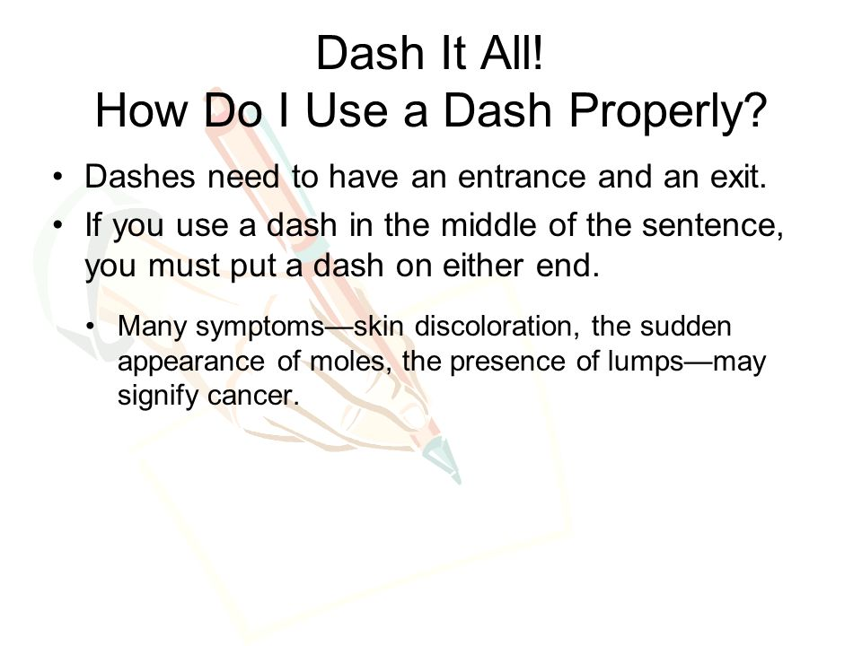 Do You Need A Capital Letter After Dash