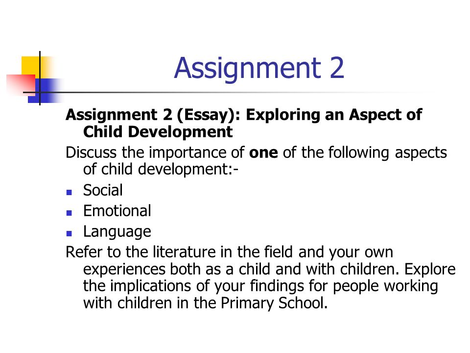 child development essay conclusion