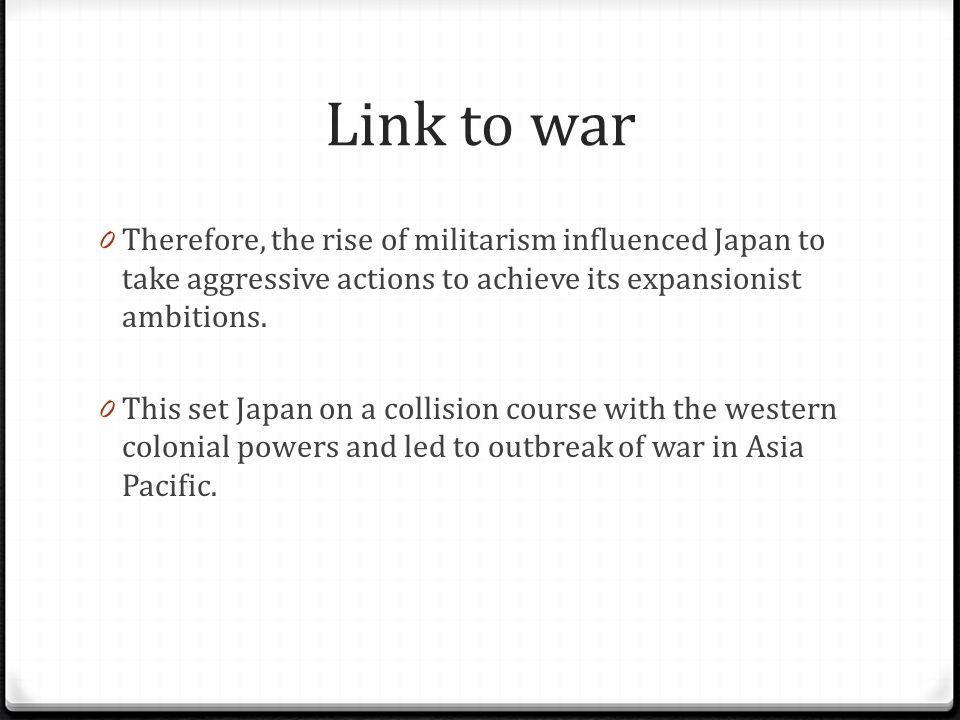 the rise of militarism was caused by internal factors essay Japanese history/the rise of militarism from wikibooks, open books for an open world causes  the root of militarism can be seen in several reasons:.