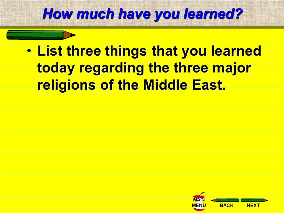 The Three Major Religions Of The Middle East Ppt Video Online - List of major religions